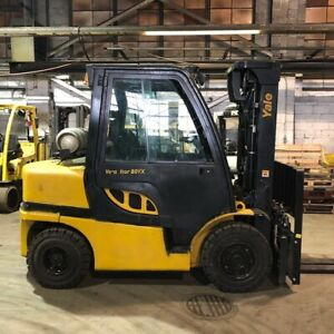 2016 Yale 8000lbs Pneumatic Tire Used Forklift W triple Mast Sideshift Lp Gas