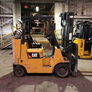 2013 Cat 8000lbs Lp Gas Used Forklift W triple Mast Sideshift 2935 Hours