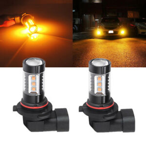Amber 9005 9145 Led High Power Fog Driving Light Bulbs 3500k Fit For Ford F 250