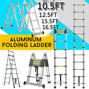 12 5ft Step Ladder Extension Telescoping Lightweight Portable Folding Telescopic