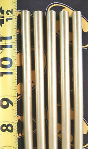 3 8 C360 Brass Solid Round Rod 20 Pieces 12 Long New Lathe Bar Stock 375