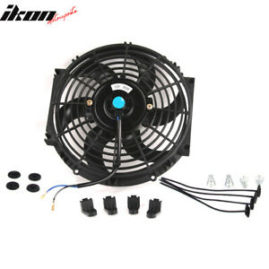 Universal 10 In Pull Push Electric Radiator Engine Cooling Fan W Mount Kit