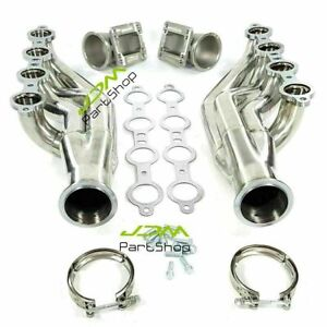 Turbo Exhaust Manifold Headers Ls1 Ls6 Lsx Gm V8 Elbows T3 T4 To 3 0 V Band