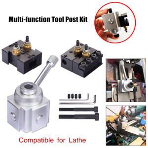 Simple Combination Mini Quick Change Tool Post Kit Set For Cnc Table hobby Lathe