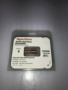 Genuine Hypertherm 120926 Electrode Rt60 Rt80 Pmx 1000 1250 1650 5 Pack