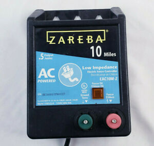 Zareba Electric Fence Charger 10 mile Low Impedance Energizer 115v1 2j 6