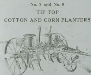 Ih Mccormick deering No 7 8 Tip Top Corn Cotton Planter Sulky Riding Horse Drawn