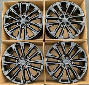 20 Cadillac Xt5 Factory Original Oem Wheels Rims Gloss Black 4803 2017 2018