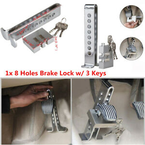 Brake Pedal Lock Security Car Auto 8 Hole Stainless Steel Clutch Lock Anti theft