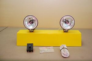 3 5 Round Driving Spot Lights Vintage Style Pair Clear Small Rally