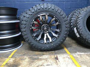 20x10 Fuel D674 Blitz Wheels Rims 35 Atturo Mt Tires 8x6 5 Dodge Ram 2500 3500