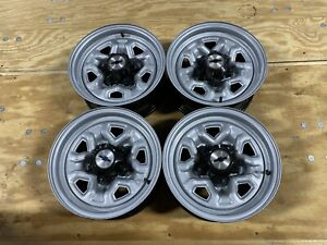 1983 90 Gm Chevy Camaro S10 S15 14x6 Set Of 4 Rally Wheels Rims 4 75 Bp Oem