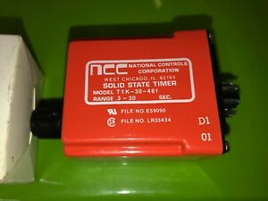 National Controls Corp T1k 30 461 Delay On 0 3 30 Sec 8 Pin 120v Timer Relay