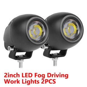 2x Offroad Car Cree Led Work Lights Spotlight Driving Fog Pods Suv 4x4wd Round