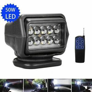 Led Search Light Rotating Remote Control Spot Light Searchlight Boat Truck Suv