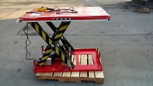 Electric Hydraulic Scissor Lift Table 4 000 Lb Capacity 51 X 33 1 2 Table
