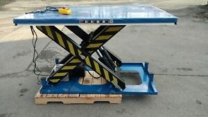 Electric Hydraulic Scissor Lift Table 8 000 Lb Capacity 67 X 47 table