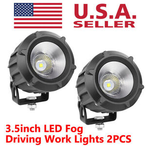 2x 3 5 Cree Led Fog Lights Spot Flood Driving Pods Combo Offroad 4wd Work Lamps