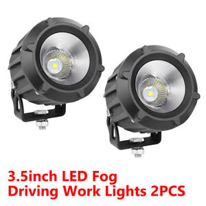 2x 3 5 Cree Led Fog Lights Spot Flood Driving Pods Combo Offroad 4wd Work 6000k