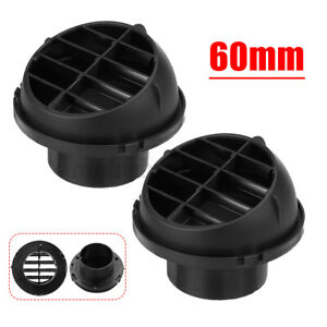 2x Auto Car Heater Duct 60mm Warm Air Vent Outlet For Eberspacher Webasto