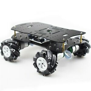 4wd Robot Car Smart Car Chassis Kit Load Capacity 10kg W omni Wheels Unfinished