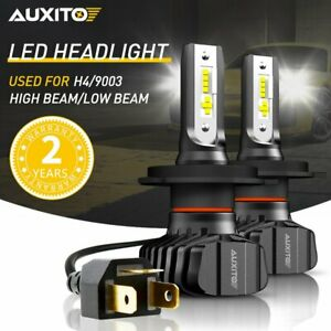 Auxito 9003 H4 Led Headlight High low Beam 6000k Bulb 16000lm A7 Conversion Kit