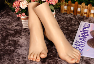 High end Platinum Silicone Female Vein Foot Delicate Feet Model Display Jewelry