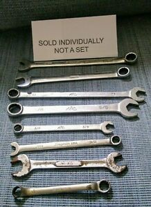 Assorted Snap on And Mac Tool Usa Wrenches Various Sizes Your Pick Ts372
