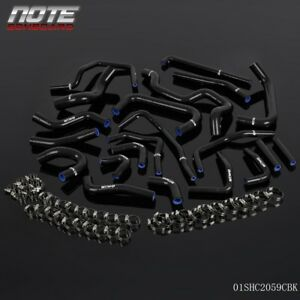For 1991 Toyota Mr2 Turbo 2 0l 3sgte Rev2 Lhd Black Silicone Ancillary Hose Kit