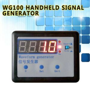Wg100 Handheld Signal Generator 10ms s 2ch Sine Wave Square Wave Frequency Meter