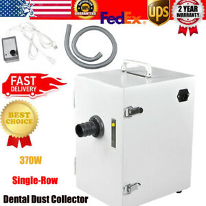 Dental Digital Single row Dust Collector Vacuum Cleaner 370w For Lab 110v