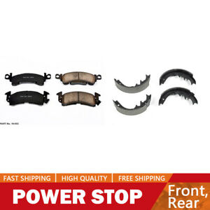 Front Ceramic Brake Pads Rear Brake Shoes For Jeep Cherokee 1986 1989