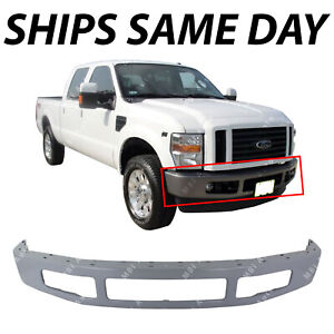 New Primered Steel Front Bumper Face Bar For 2008 2010 Ford F250 F350 Super Duty