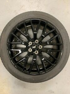 2017 Black Mustang Oem Wheel And Tire Tpms Center Cap 19 Inch Rear