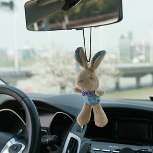 Cute Rabbit Car Pendant Hanger Mirror Interior Auto Decoration Styling Ornament