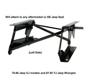 Forward Seat Riser Bracket For 76 To 95 Jeep Cj And Wrangler Yj Models Left