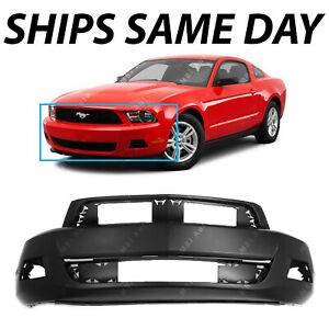 New Primered Front Bumper Cover For 2010 2011 2012 Ford Mustang Base 10 11 12