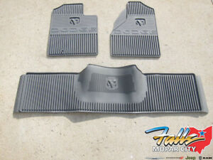 2006 2009 Dodge Ram 2500 3500 Front Rear All Weather Slate Grey Floor Mat Set