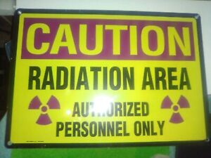 Radiation Area Warning Sign Caution Authorized Personnel Only 20 14 Aluminum