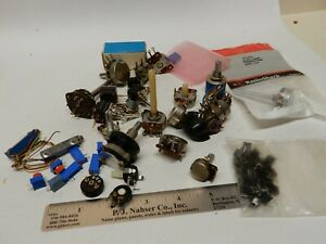 Lot Of Vintage Nos And Used Potentiometers