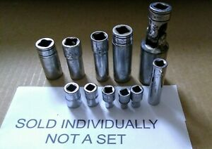 Assorted Snap on Mac 3 8 1 4 Drive Sockets 12 6 Pts Various Sizesyour Pick