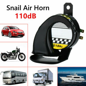 Universal Waterproof Car Motorcycle Snail Air Horn 130db 12v E Bike Loud Usa