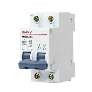 Dc Mcb Circuit Breaker For Solar Photovoltaic 2p 6 10 16 20 25 32 40 50 63a New