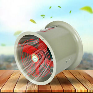 Explosion proof Fan Axial Fan Cylinder Pipe Fan 110v 2280m3 h Kitchen Workshop