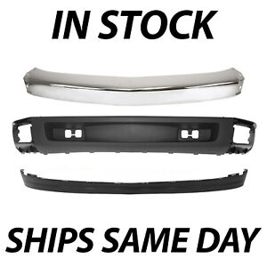 New Chrome Front Bumper Face Bar Valance Kit For 2007 2013 Chevy Silverado 1500