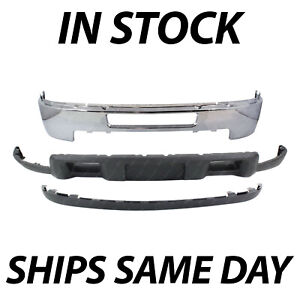 New Chrome Front Bumper Face Valance Kit For 2011 2014 Chevy Silverado 2500 3500