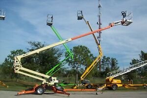 Jlg T500j 56 Towable Boom Lift Auto Level Outriggers new Batteries make Offer