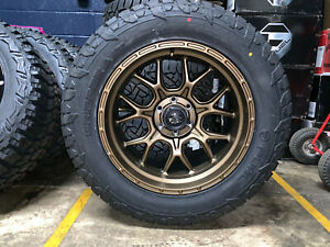 20x10 Fuel D671 Tech Bronze 33 At Wheel Tire Package 6x135 Ford F150 Expedition