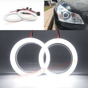 Cotton Led Halo Ring For Infiniti G35 G37 Sedan 2007 09 Headlight Angel Eye Drl