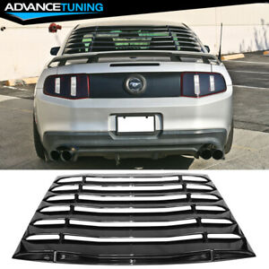 Fits 05 14 Ford Mustang Ikon Style Rear Louvers Window Cover Carbon Fiber Print